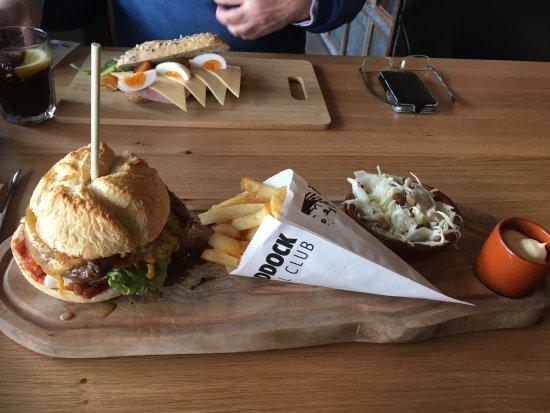 Amstelveen, The Netherlands: A healthier sandwich behind an hamburger