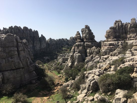 Paraje Natural Torcal de Antequera: View on the roundtrip