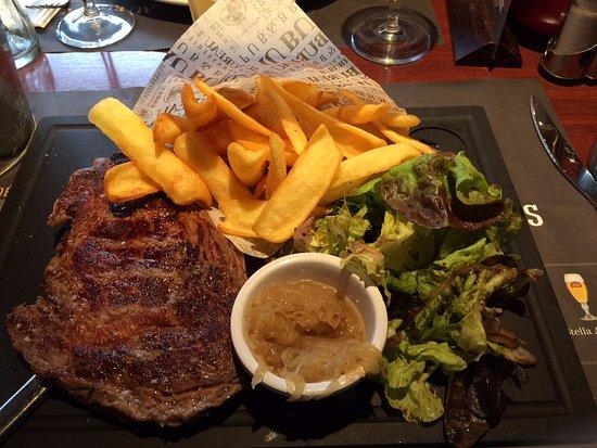 Марманд, Франция: Entrecôte excellente