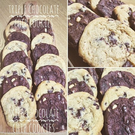 Knighton, UK: Homemade chocolate cookies