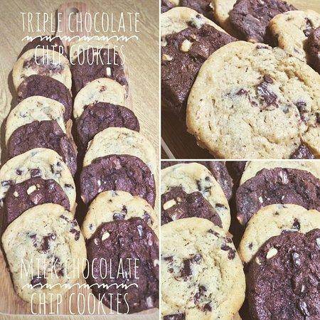 Knighton, UK: Homemade chocolate cookies 