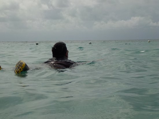 Coxen Hole, Гондурас: Swimming at the beach