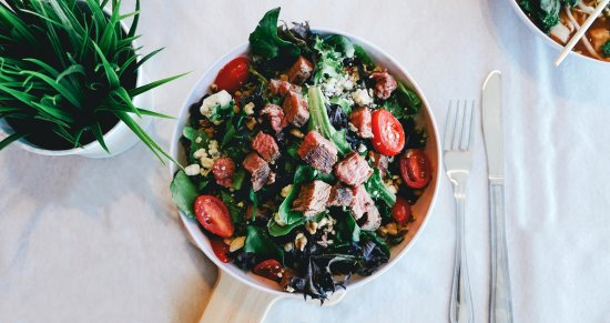 New Hartford, NY: Steak, Bacon & Bleu Cheese Green Bowl