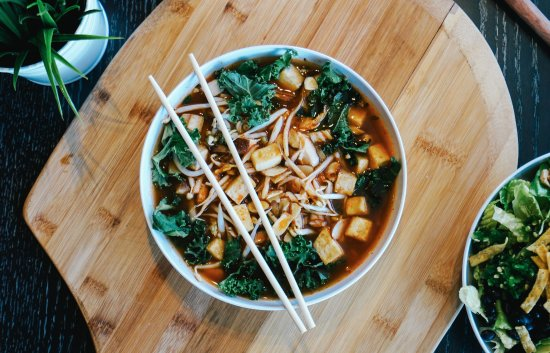 New Hartford, NY: Shiitake Mushroom & Roasted Tofu Broth Bowl