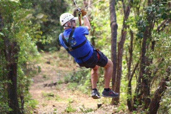 Costa Rica Monkey Tours -  Day Tours : Even an old guy like me loved the zip lines