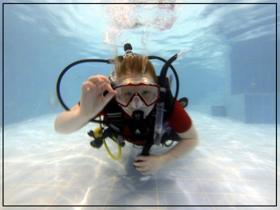 Castlerock, UK: Kids from 8+ can come and dive in the pool. Scuba parties are our speciality!