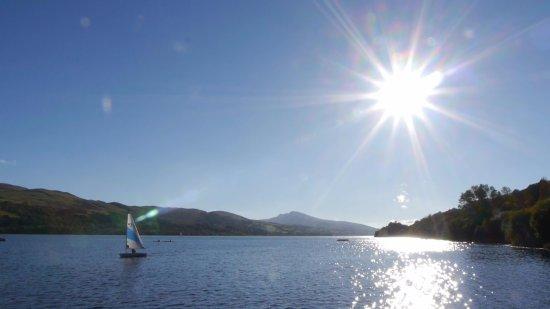 Бала, UK: Llyn Tegid the largest lake in Wales