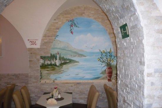 Schöne Wandbemalung, Im Restaurant. - Picture Of Il Centro