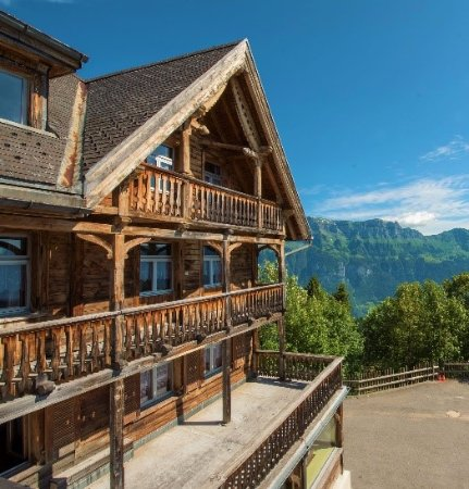 Flumserberg, İsviçre: Aussicht aus einem der Zimmer