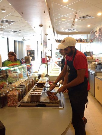 League City, TX: Marble Slab preparation and serving