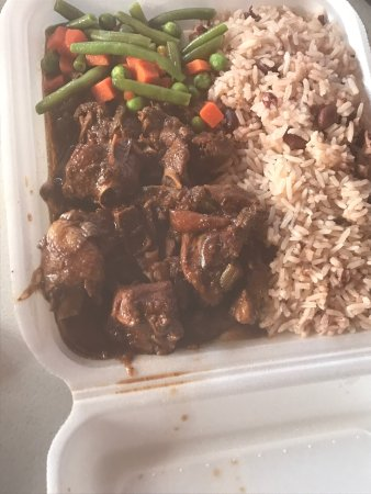 Discovery Bay, Jamaica: Curry and Brown Stew Chicken