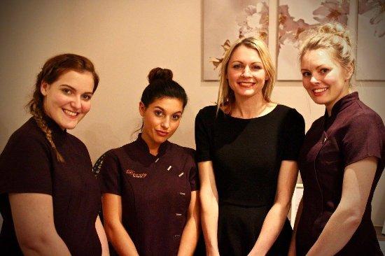 Shrewsbury, UK: Our team of beauty therapists - Kate, Sally, Sarah & Hayley