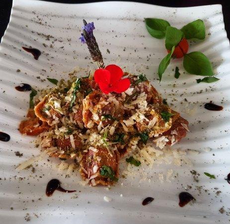Algarrobo, Spagna: Raviolis con verduras / Ravioli with vegetables