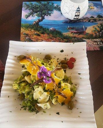 Algarrobo, Spagna: Orange salad