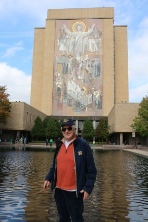 University of Notre Dame: Touchdown Jesus, actually the mural on the Hesburgh library
