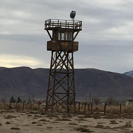 Independence, CA: The old guard tower at the edge of the internment camp.