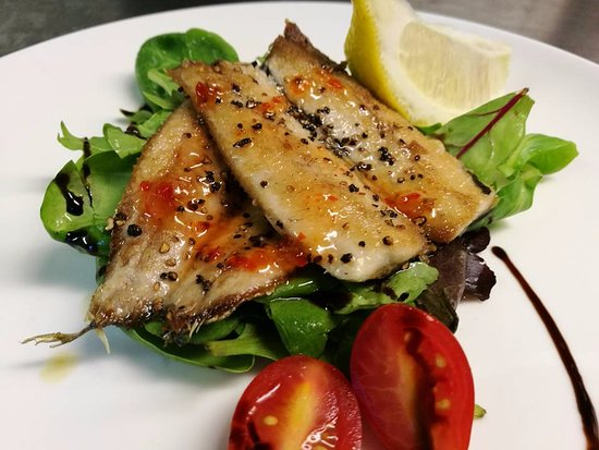 Walkden, UK: Sardines Fillets with sweet chilli sauce, Starter