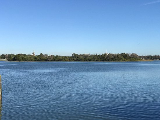 Disney's Polynesian Village Resort: View from bungalow of Cinderella's castle