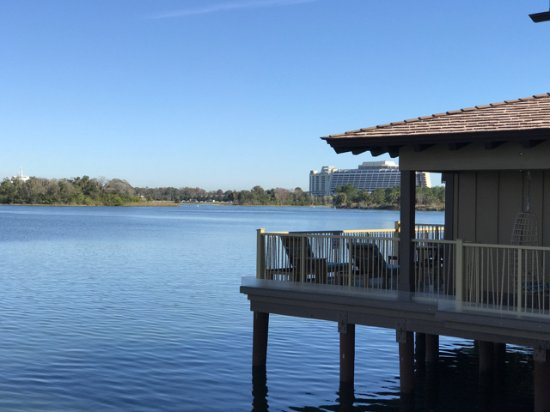 Disney's Polynesian Village Resort: View from bungalow of the Contemporary resort