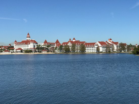 Disney's Polynesian Village Resort: View from bungalow of the Grand Floridian Resort