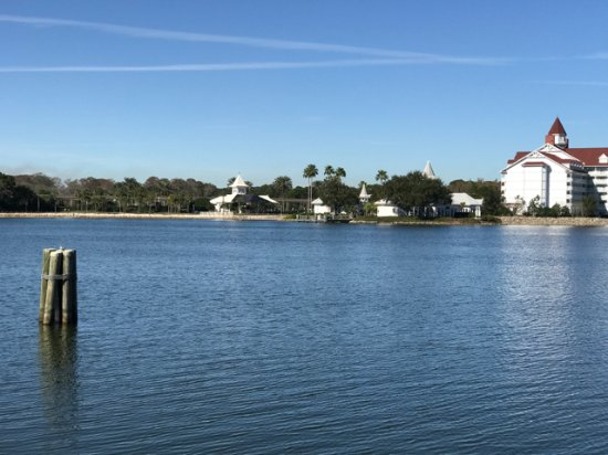 Disney's Polynesian Village Resort: View from bungalow of wedding chapel at Grand Floridian