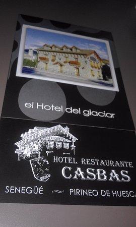 Senegue, Spain: folleto del local