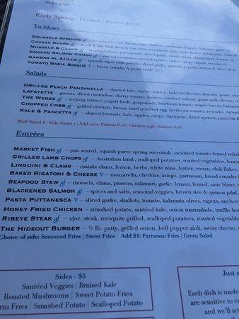 Lafayette, CA: menu