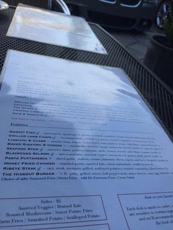 Λαφαγιέτ, Καλιφόρνια: menu
