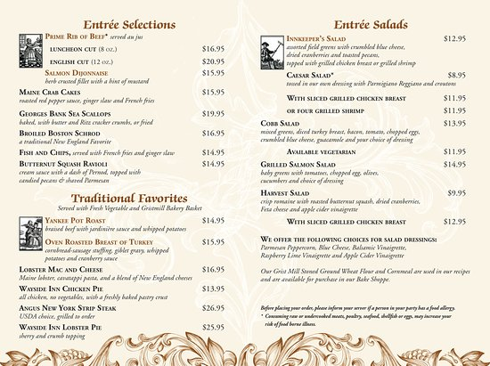 Longfellow's Wayside Inn: Our lunch menu is available Monday through Saturday, 11:30am until 3:00pm