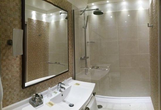 Donnemain-Saint-Mamès, France : salle de bain chambre standing