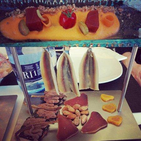 Molina de Segura, Spanje: Dos de las tapas del menu degustacion.