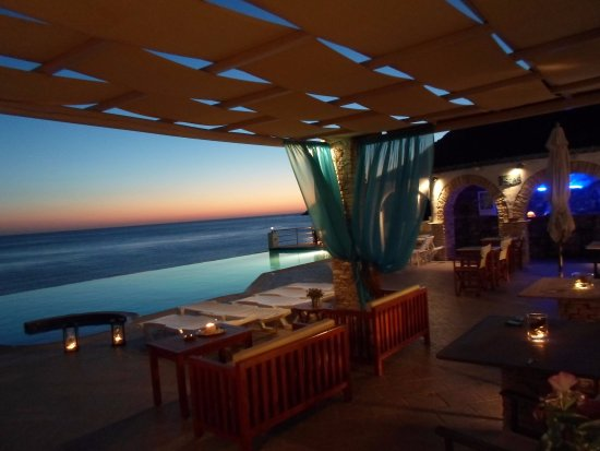 Kamares, Greece: dimmed light and sunset view