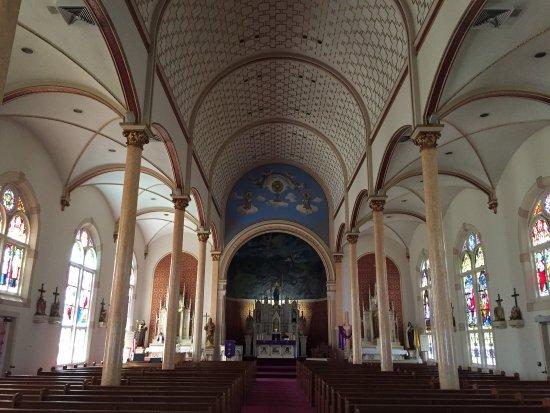 Shiner, Teksas: Interior of church