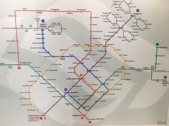 Compact Metro Map Picture Of Singapore Mass Rapid Transit Smrt