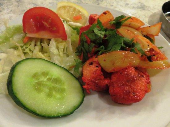 Росс-он-Уай, UK: Chicken Tikka starter at Cafe Zam Zam (22/Mar/17).