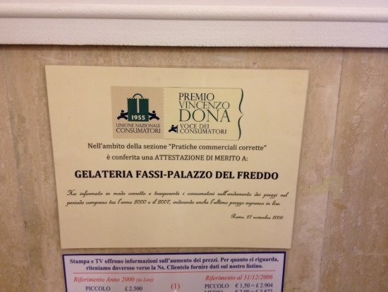 Photo of Restaurant Palazzo del Freddo Giovanni Fassi at Via Principe Eugenio 65, Rome 00185, Italy