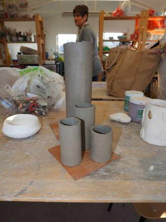 "Great Torrington, UK: In the beginning 4 ""rolls"" of clay :) and now what ?"
