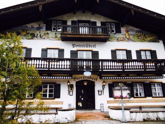 Kreuth, Alemania: Gasthof Zur Post. Luftmalerei.