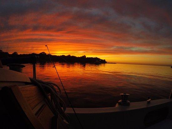 Sunset in July, North Bay Kelleys Island