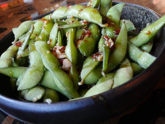 Malden, MA: Spicy garlic Edamame
