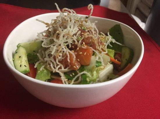 Malden, MA: Tuna Salmon Salad Rice Bowl