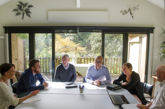 Taihape, Nueva Zelanda: Business meetings in the conference room facilities, overlooking the Rangitikei River