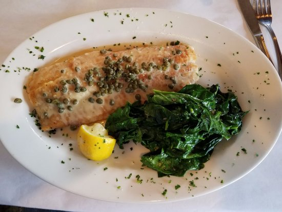 La ZaZa Trattoria: Lake Superior Whitefish with Fire Roasted Spinach