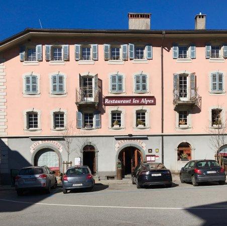 Restaurant les Alpes in Orsieres, Switzerlalnd