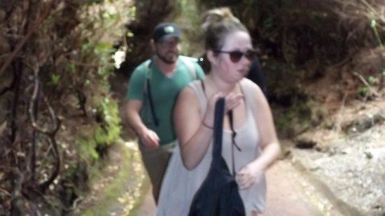Poas Volcano National Park, Costa Rica: subiendo por el sendero a la laguna botos