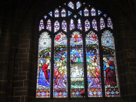 Chester Cathedral: Vitral de la catedral.