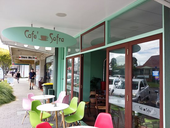 North Shore City, New Zealand: Cafe Sofra outside