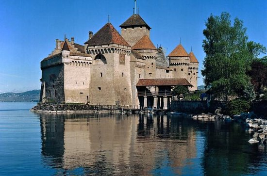 Chillon Castle, Montreux Resort, and...