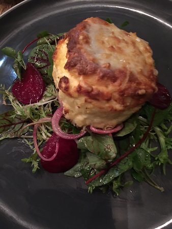 Pitchfork: cheese souffle