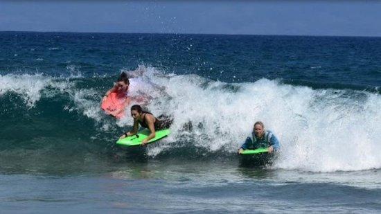 Kapalua, Χαβάη: Boogie boarding!